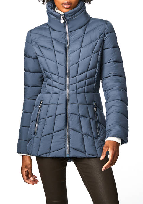 Bernardo Womens Microtouch Packable Icon Jacket