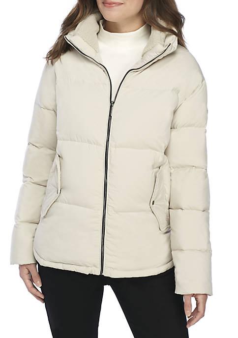 Bernardo Micro Touch Zip Front Puffer Jacket