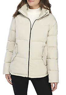 Micro Touch Zip Front Puffer Jacket