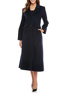 Single-Breasted Maxi Wool Coat