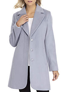 Single Breasted Notch Collar Coat