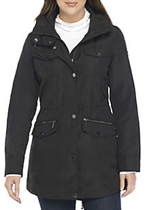 Button Front Anorak Rain jacket