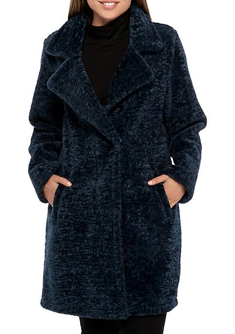MICHAEL Michael Kors Faux Fur Notch Collar Jacket