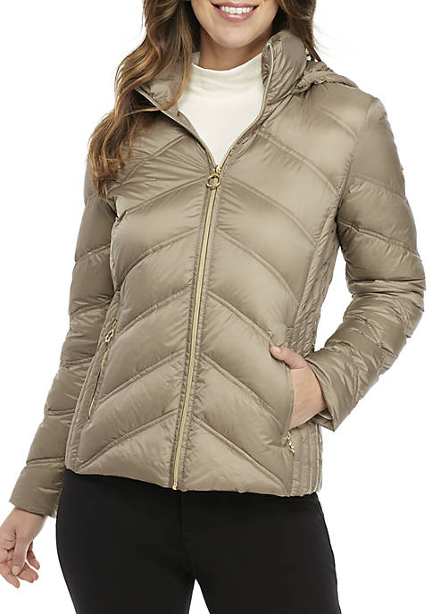 MICHAEL Michael Kors Short Packable Down Jacket
