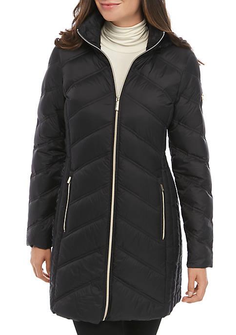MICHAEL Michael Kors Mid Length Packable Jacket