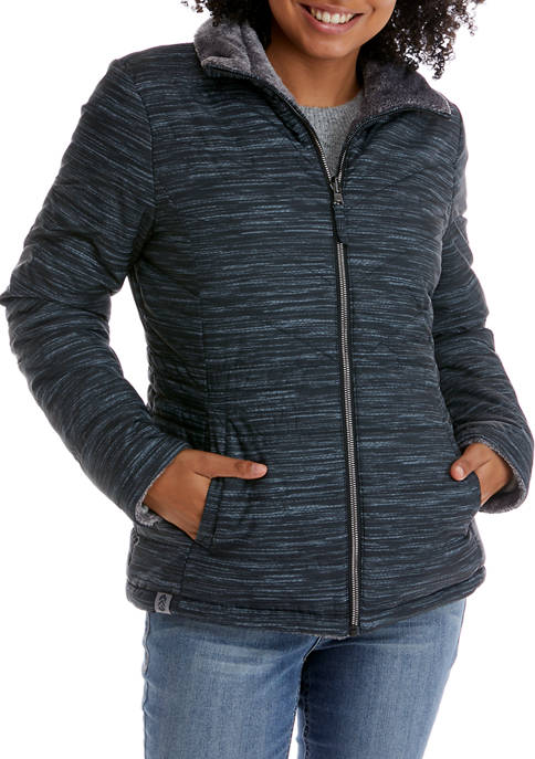 FREE COUNTRY Womens Reversible Printed Jacket