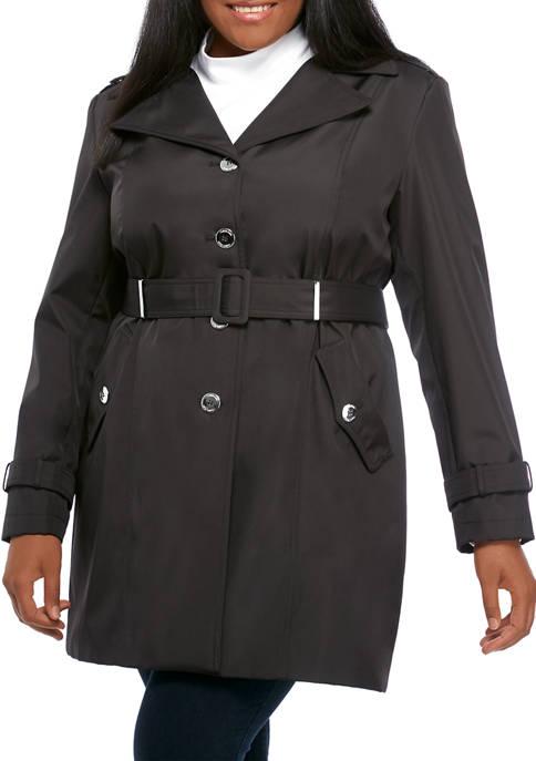 Calvin Klein Womens Single Breasted Rain Jacket