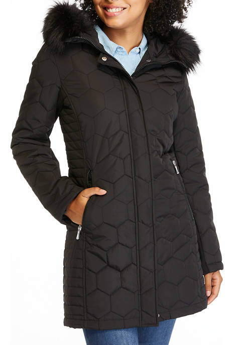 Fur Hood Quilted Jacket