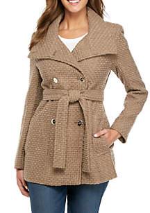 Basketweave Coat