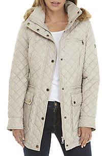 Fur Hood Quilt Coat