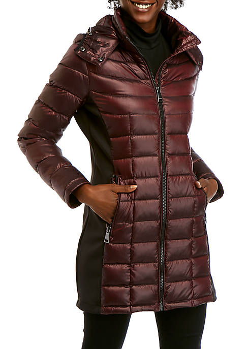 Knit Side Packable Down Jacket