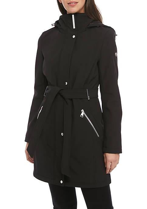 Calvin Klein Soft Shell Tie Waist Jacket