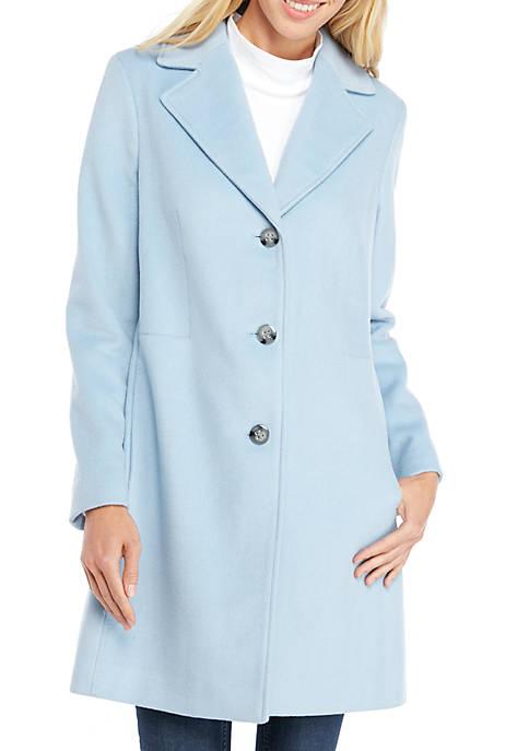 Calvin Klein Single Breasted Lux Wool Coat