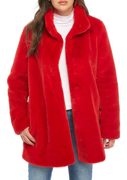 Womens Faux Fur Coat