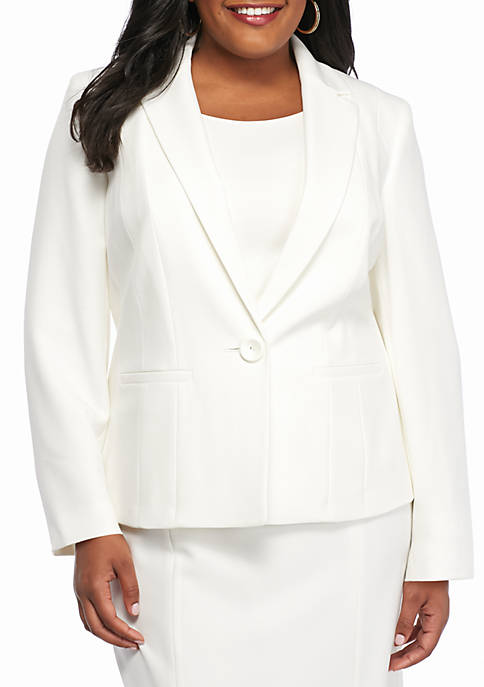 Kasper Plus Size Single Button Jacket