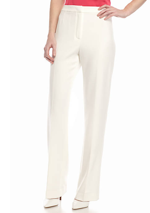 Petite Solid Trouser