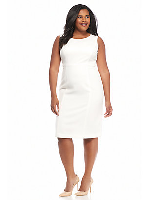 Plus Size Solid Sheath Dress