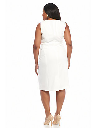 6fbe628e94e Kasper Plus Size Solid Sheath Dress Kasper Plus Size Solid Sheath Dress