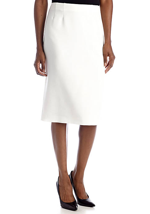 Kasper Solid Pencil Skirt