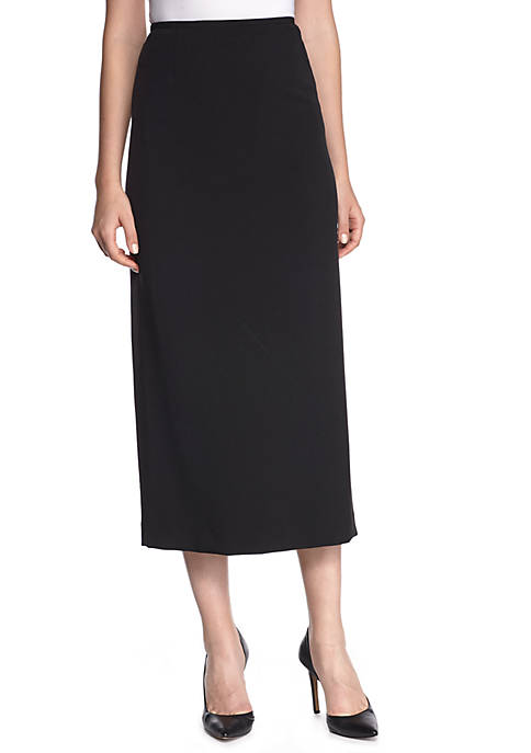 Kasper Solid Straight Skirt