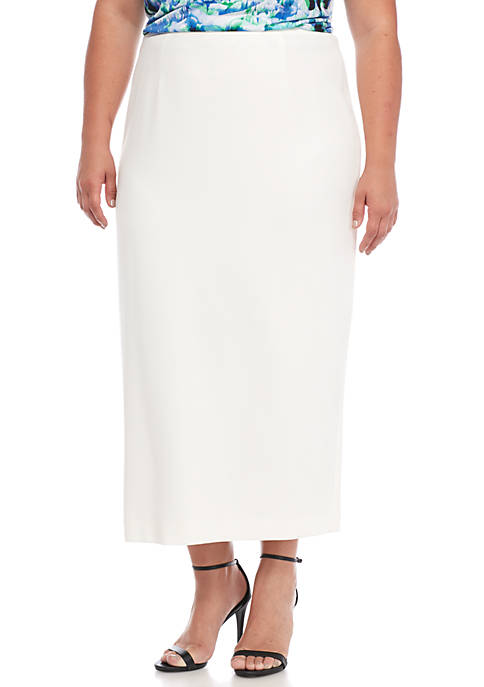 Kasper Plus Size Straight Skirt