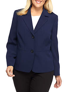 Plus Size Two Button Jacket
