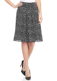 Kasper Abstract Dot Print Skirt