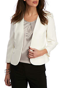 Three-Quarter Sleeve Flyaway Jacket