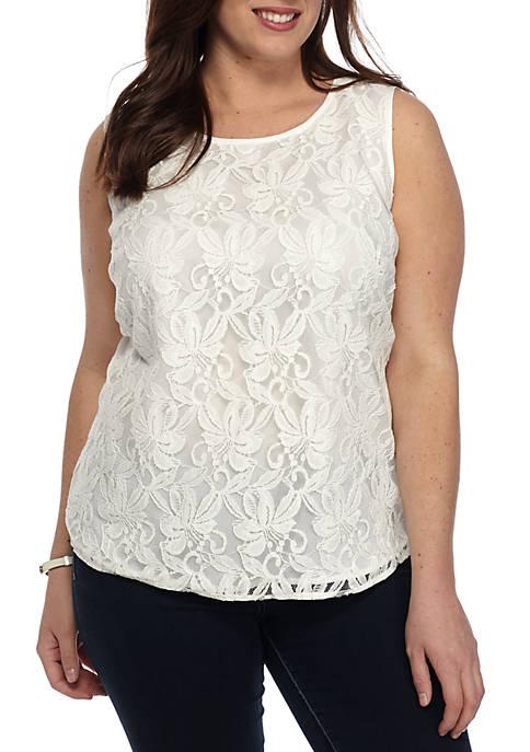 Kasper Plus Size Lace Cami