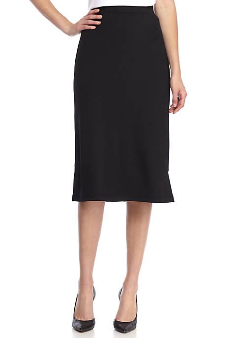 Kasper Midi Knit Slim Skirt with Side Slits