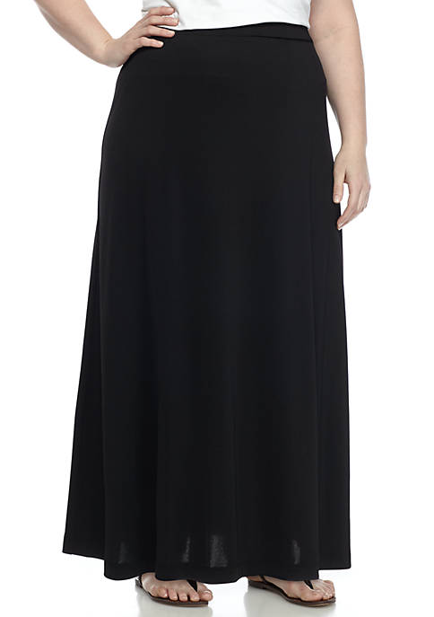 Kasper Plus Size Knit Maxi Skirt