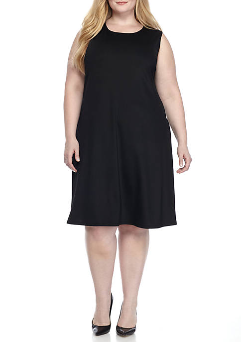 Kasper Plus Size Jersey Swing Dress
