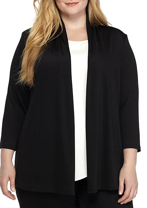 Kasper Plus Size Knit Cardigan Jacket