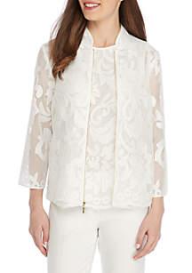 Floral Lace Mandarin Jacket