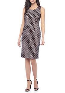 Bonded Lace Sheath Dress