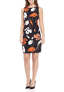 Tropical Printed Crepe Dress