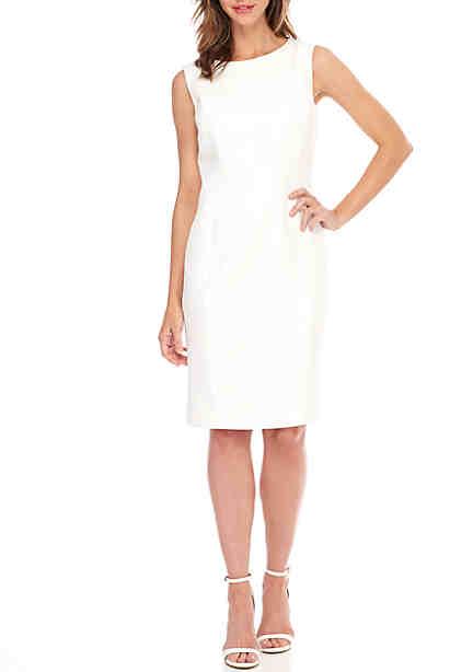 Kasper Solid Diamond Jacquard Dress ...