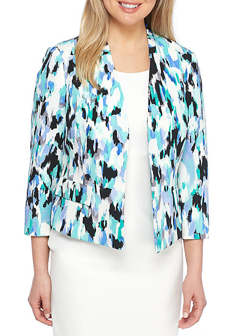 Kasper Painted Strokes Print Fly Away Jacket