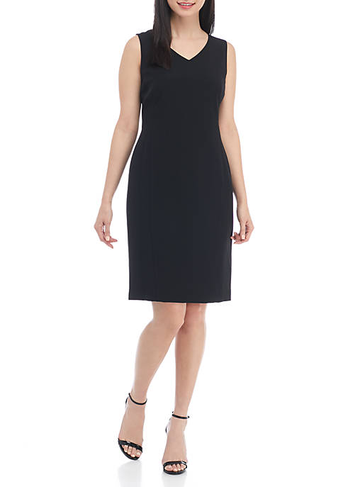 Kasper Petite V-Neck Dress
