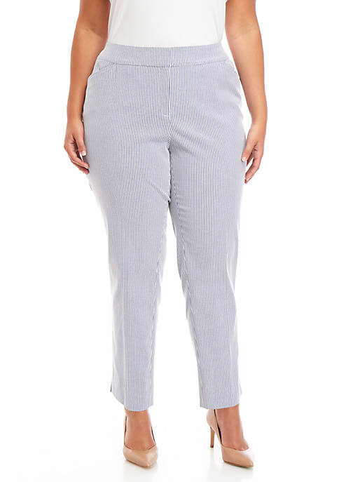 Kasper Plus Size Striped Pants