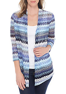Crochet Lace Three-Quarter Cardigan