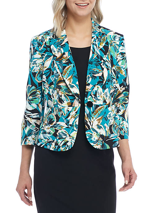 Kasper Blossoming Printed Jacket
