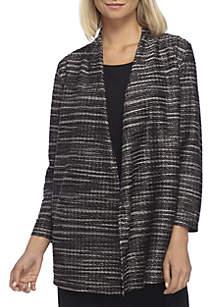 Petite Textured Knit Cardigan