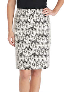 Textured Knit Stretch Skirt
