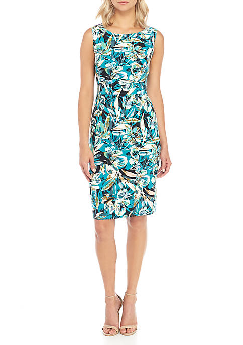 Kasper Blossom Print Sheath Dress