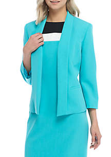 Petite Stretch Crepe Fly Away Jacket