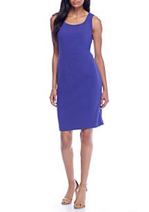Sleeveless Crepe Square Neck Dress