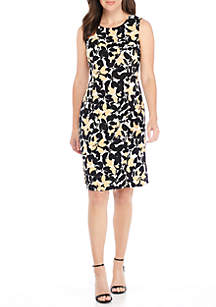Petite Floral Print Dress