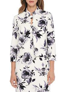 Petite Floral Print Jacket