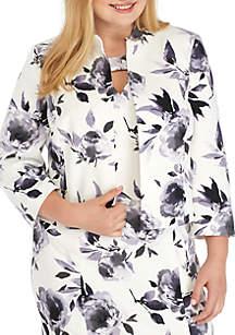 Plus Size Floral Print jacket